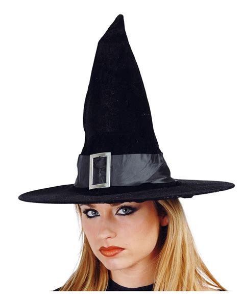 velvet witch hat with buckle witch outfit for halloween