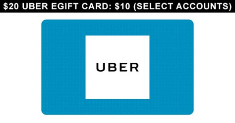 Groupon Uber Gift Card - 20 uber egift card 10 select accounts