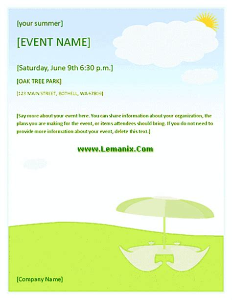 Event Flyer Template Publisher