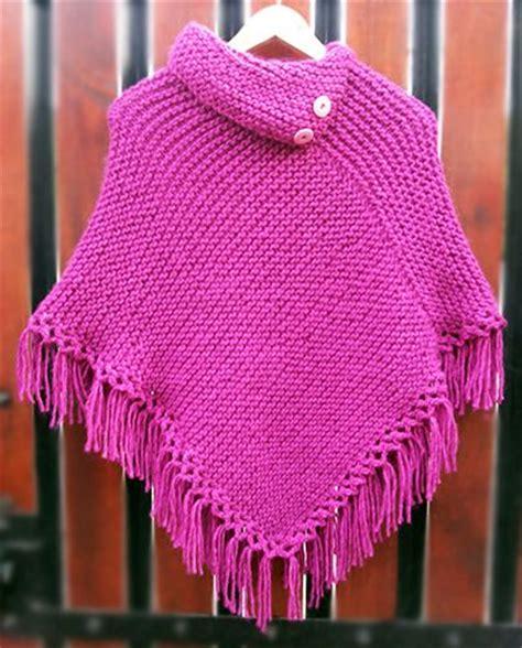 ponchos tejidos a dos agujas poncho ni 241 a rosado tejido a palillos poncho dos agujas