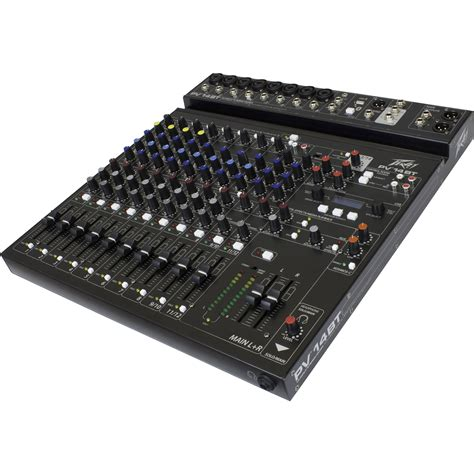 Mixing Console Mixer Peavey Pv8 8channel Limited peavey pv 14 bt pro audio dj 14 channel analog mixer