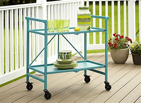 serving cart for dining room outdoor folding rolling indoor or outdoor folding metal rolling serving cart