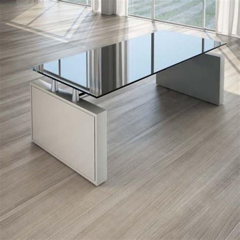 scrivanie in cristallo per ufficio scrivania per ufficio 200 cm top cristallo nero linekit