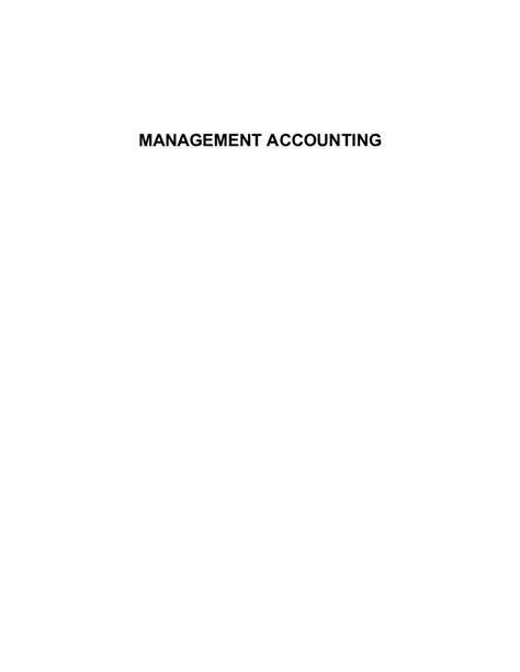 Mba Notes Corner by Management Accounting Notes Mba Bk
