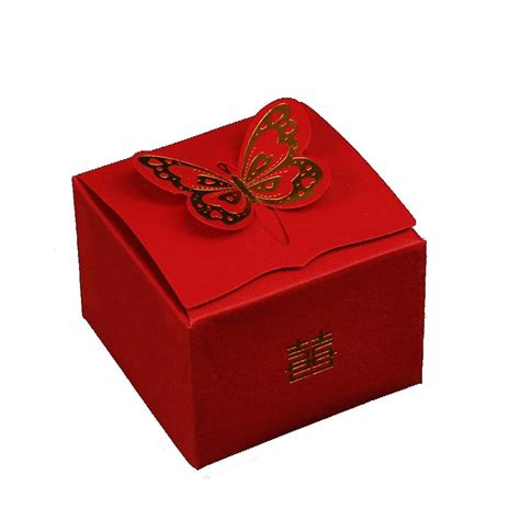 Paper Gift Boxes - golden butterfly box wedding laser cut paper favor gift