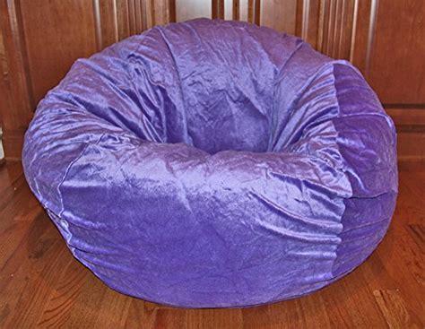 cuddly soft bean bag chair ahh products cuddle soft purple washable large bean bag