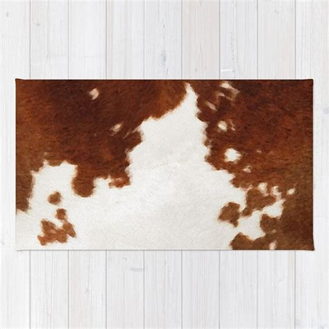 Cow Print Area Rug Cowhide Rug Brown And White Cow Print Area Rug 2x3 Rug Cow