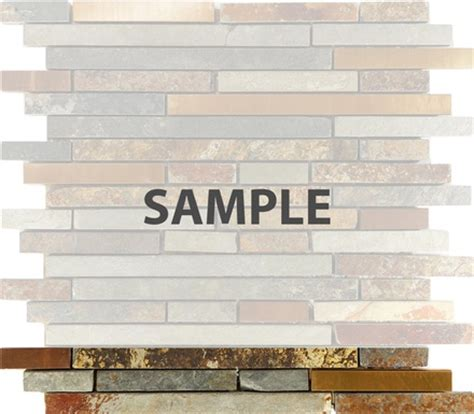 sle rustic copper linear natural slate blend mosaic sle rustic copper linear natural slate blend mosaic
