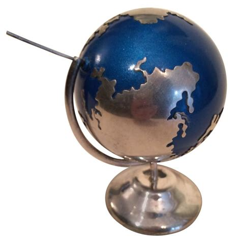 spinning globe desk sterling silver spinning globe desk accessory for sale at