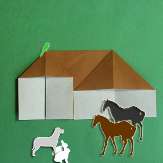 Origami Barn - barn origami how to make origami barn kid s