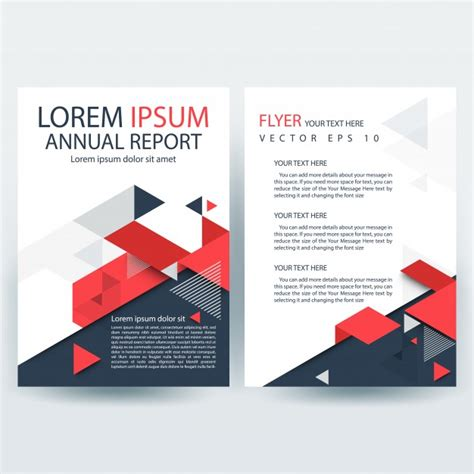 creative report templates and gray creative report cover template with geometric