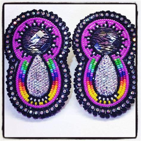 beaded powwow earrings beautiful beaded earrings pow wow style swag glam