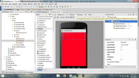 background layout android studio android studio tutorial espa 241 ol 1 5 radiogroup
