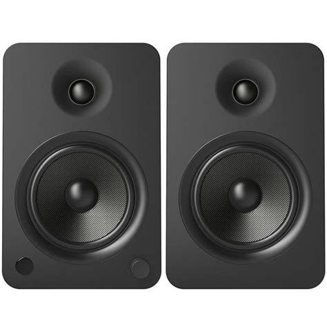 kanto yu6 powered bookshelf speakers matte black yu6mb