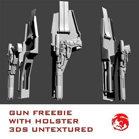 gun and holster 3d model sharecg