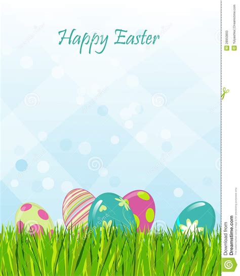 easter greeting card template egges illustrations vector stock images 4