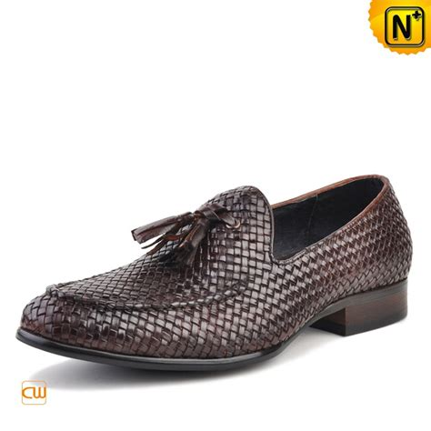 woven leather loafers mens woven leather tassel loafers cw750058