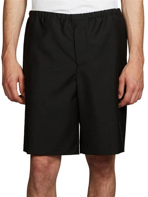 Wool Shorts acne ari wool mohair shorts in black for lyst