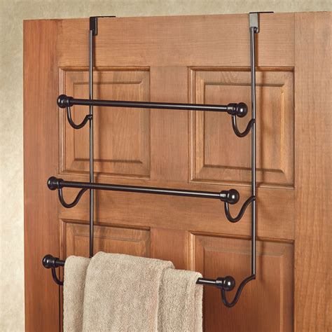bathroom door towel racks door towel over door towel rack bronze bathroom