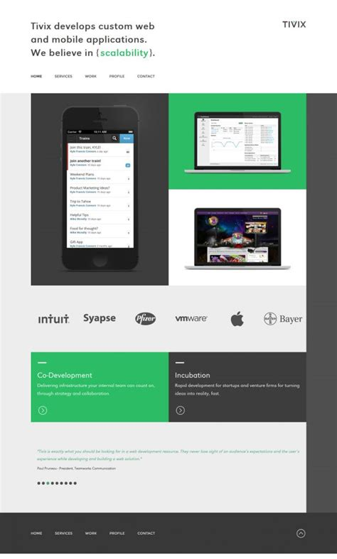 design inspiration mobile website tivix develops custom web and mobile applications