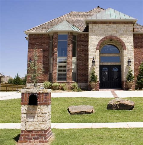 new brick home designs brick and mailbox designs