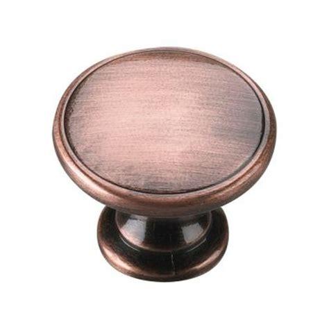 richelieu hardware 1 3 4 in antique copper cabinet knob