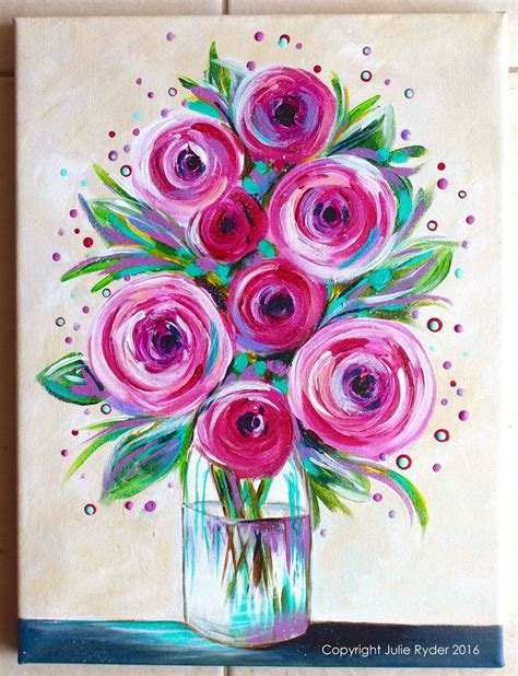 pretty painted floors with flower designs simple flower painting ideas best 25 flower painting