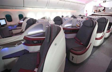 Qatar Airways Interior flight test qatar dreamliner business class