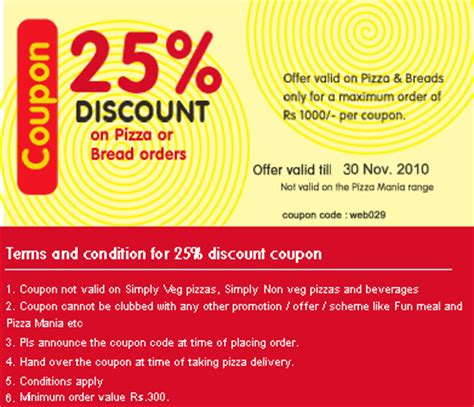 haircut coupons bangalore join on domion s wow club and get 25 discount on pizza or