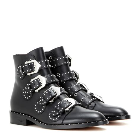 Embellished Leather Boots givenchy embellished leather ankle boots in black lyst