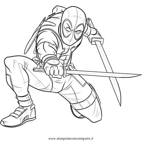 deadpool chibi coloring pages