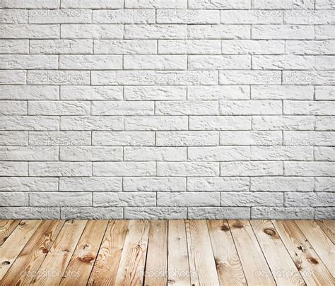 one white brick wall and a few white brick accents along