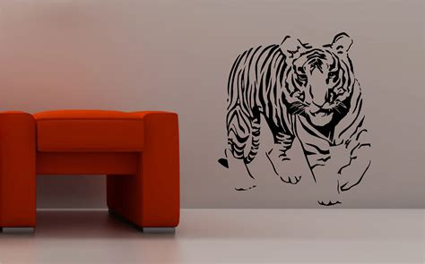 wall art decals for bedroom stunning tiger wall art sticker vinyl bedroom lounge