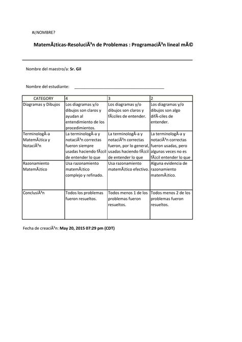 preguntas de razonamiento matemático rubrica metodo grafico by rosendo issuu