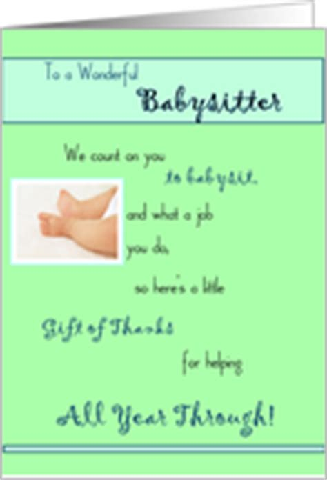 Thank You Letter For Babysitting Thank You Quotes Quotesgram