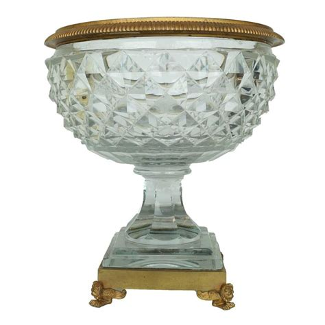 footed bowl centerpiece and bronze footed centerpiece bowl with cut at 1stdibs