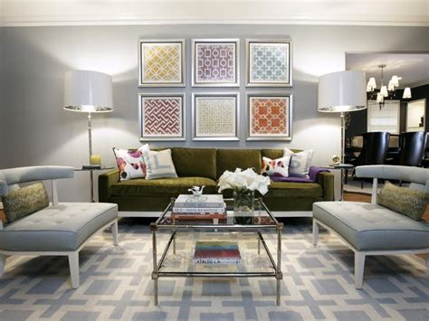 Hgtv Living Room Gray Colorful Modern Living Room Multi Color Patterned