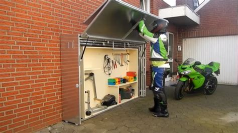 Garage Storage Ideas For Motorcycles A Motorcycle Anti Theft Storage Solution For The Rest Of