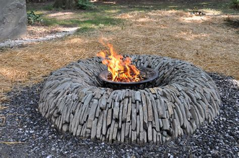 Homemade Fire Pit Is A Perfect Accent For Your Backyard Rock Firepit
