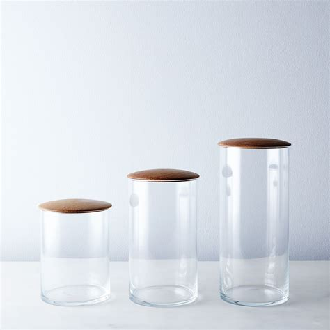 glassware storage containers glass oak simple storage containers on food52
