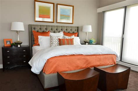 extraordinary coral and brown bedding decorating ideas