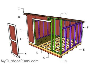Building A Lean To Shed Plans by 10x12 Lean To Shed Plans Myoutdoorplans Free