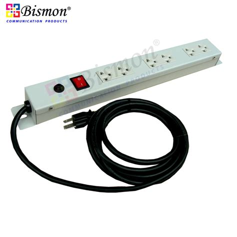 Abba Horizontal Power Distribution 8 Outlets Metal ac power distribution 6 universal outlet bismon