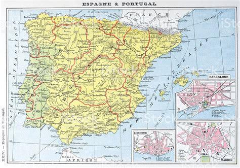 porto della spagna antica mappa della spagna e portogallo immagini