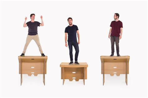 Standing L by Refold Cardboard Standing Desk Changes The Way You Work