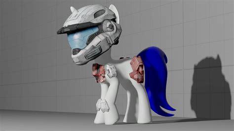 halo pony tail halo pony armor wip by digitalsyntax on deviantart