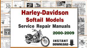 harley davidson softail models service repair manuals 2000