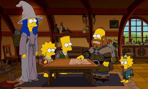 simpsons game of thrones couch gag the simpsons hobbit couch gag popsugar entertainment