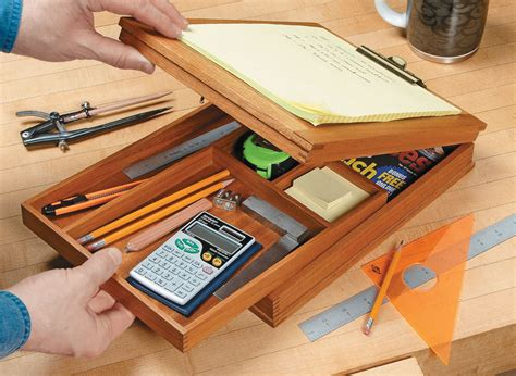 portable clipboard storage case woodworking project