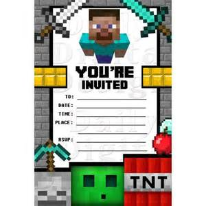 Www Uprint Templates by Minecraft Invitations Birthday Invites Blank Fill In